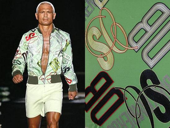 欧洲展示会上使用MADEIRA绣花线做出的上衣