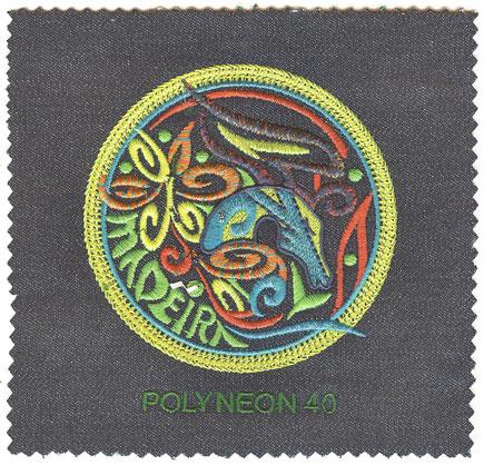 德国使用Polyneon No.40绣花线设计图案